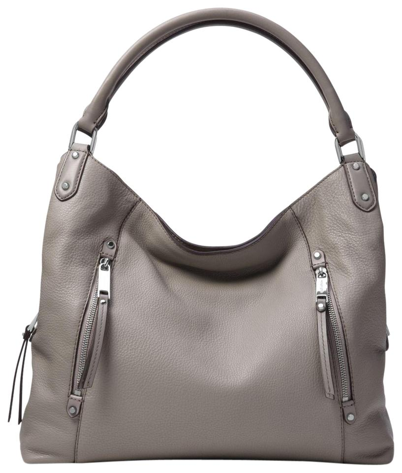 661449eab764 Michael Kors Evie Large 30s8szue3l Pearl Grey Leather Shoulder Bag ...
