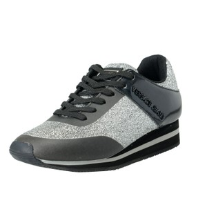 Versace Jeans Collection Black / Silver Flats