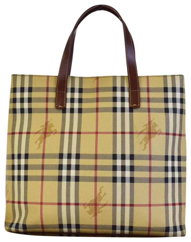 b53bbd77d907 Burberry London Nova Check Hand Beige Pvc Leather Tote - Tradesy