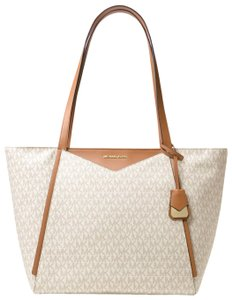 Michael Kors Canvas 30s8gn1t3b Tote in Vanilla
