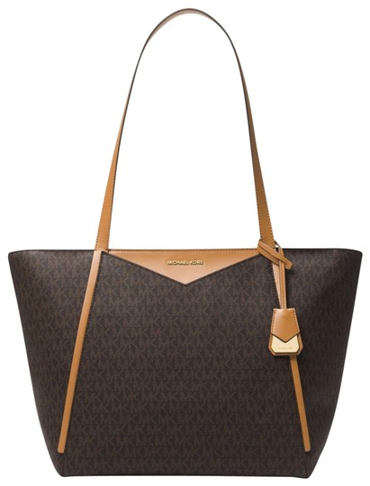 Preload https://item5.tradesy.com/images/michael-kors-whitney-large-logo-30s8gn1t3b-brown-canvas-tote-23972984-0-1.jpg?width=440&height=440