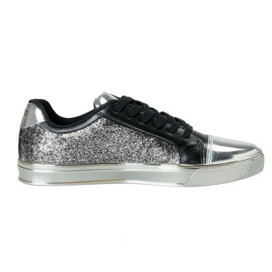 Versace Jeans Collection Sparkle Silver Flats