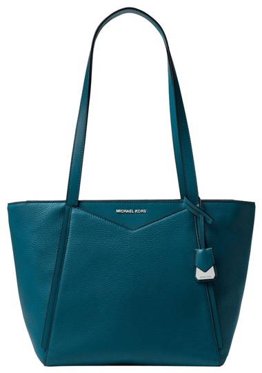 Preload https://img-static.tradesy.com/item/23972991/michael-kors-whitney-small-pebbled-30s8sn1t1l-teal-leather-tote-0-1-540-540.jpg