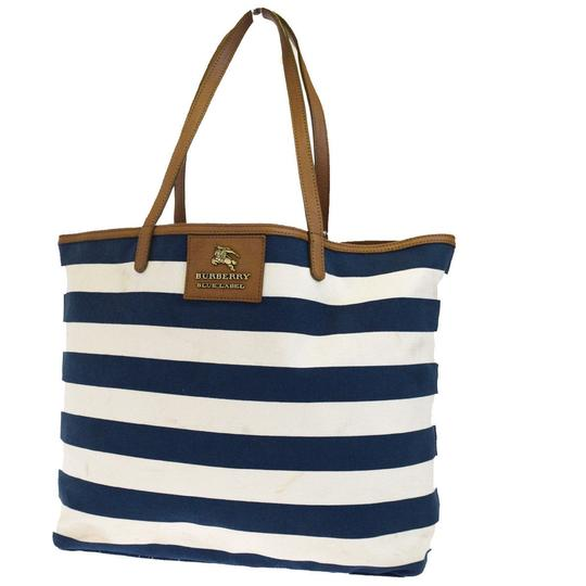Preload https://item5.tradesy.com/images/burberry-label-shoulder-blue-brown-white-canvas-leather-tote-23972994-0-0.jpg?width=440&height=440