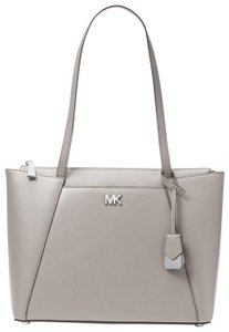 Michael Kors Leather 30s8sn2t2l Tote in Pearl Grey