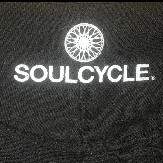 SoulCycle Black on Black Long Sleeve High Low Comes With Silver Soul Tote