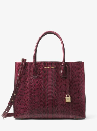 Michael Kors Snake 30h7gm9t3l Tote in Mulberry