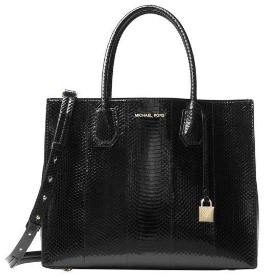 Preload https://img-static.tradesy.com/item/23973009/michael-kors-mercer-snakeskin-30h7gm9t3l-black-water-snake-tote-0-1-540-540.jpg