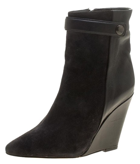 Preload https://img-static.tradesy.com/item/23973032/isabel-marant-black-suede-and-leather-purdey-wedge-heel-ankle-bootsbooties-size-eu-36-approx-us-6-re-0-2-540-540.jpg