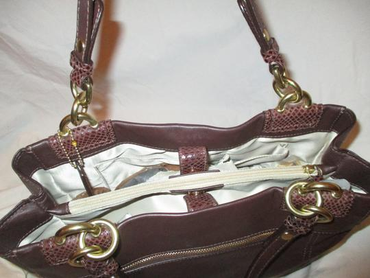 Coach Leather Cowhide Snakeskin F16531 Penelope Satchel in brown