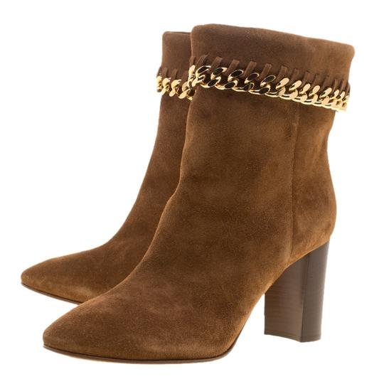 Casadei Suede Chain Ankle Brown Boots