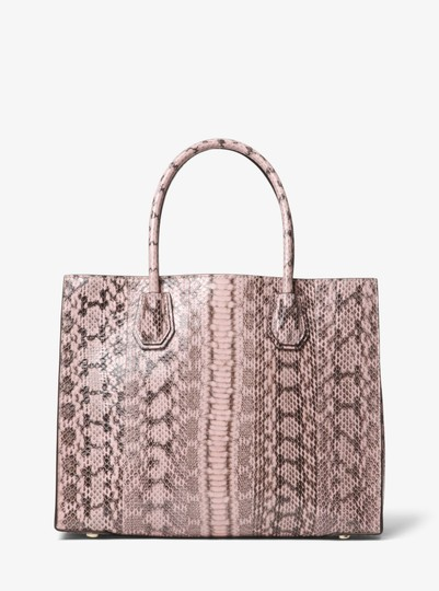 Michael Kors Snake 30f8tm9t3l Tote in Soft pink