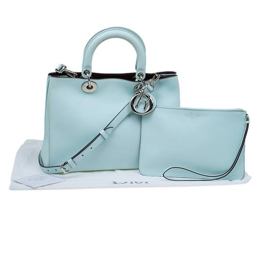 Dior Leather Tote in Light Green