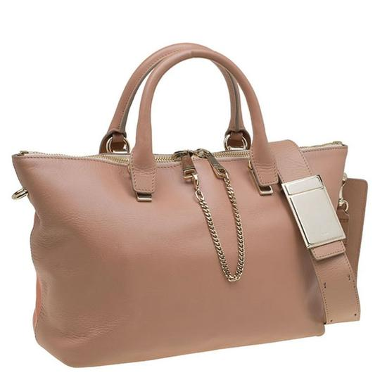 Chloé Leather Tote in Beige