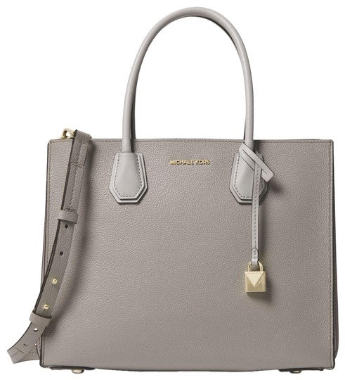 Preload https://item2.tradesy.com/images/michael-kors-mercer-large-pebbled-accordion-pearl-grey-leather-tote-23973106-0-1.jpg?width=440&height=440