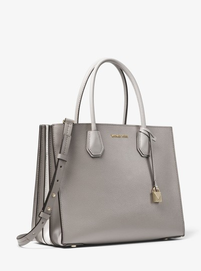 Michael Kors Leather 30t8tm9t3l Tote in Pearl Grey