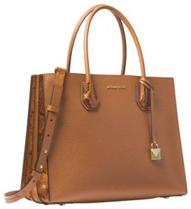 Michael Kors Leather 30f8gm9t3i Tote in Acorn