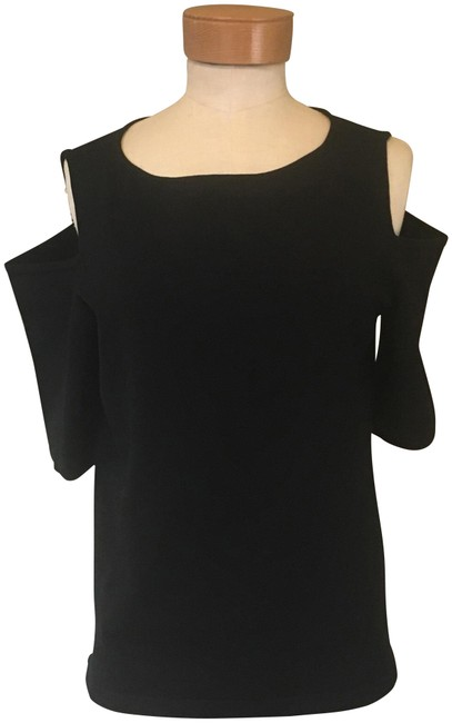 Preload https://item3.tradesy.com/images/ann-taylor-black-cold-shoulder-sweaterpullover-size-12-l-23973117-0-2.jpg?width=400&height=650