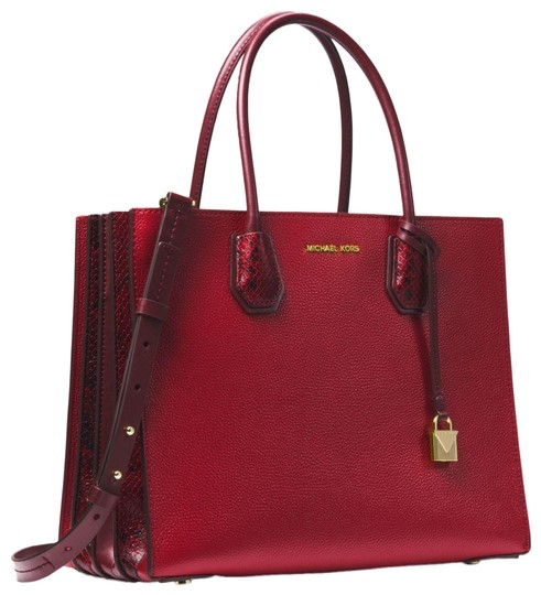 Preload https://item1.tradesy.com/images/michael-kors-mercer-large-pebbled-and-embossed-maroon-leather-tote-23973120-0-1.jpg?width=440&height=440
