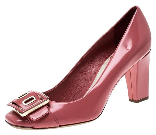Preload https://img-static.tradesy.com/item/23973130/dior-pink-leather-buckle-detail-block-pumps-size-eu-365-approx-us-65-regular-m-b-0-2-540-540.jpg