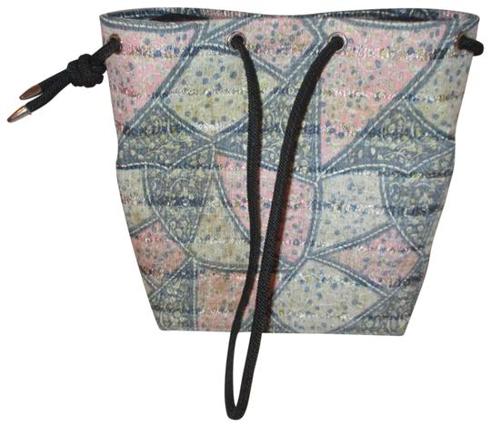 Preload https://item5.tradesy.com/images/small-drawstring-green-and-pink-multi-cotton-polyester-canvas-tote-23973134-0-1.jpg?width=440&height=440