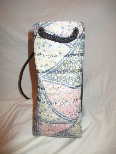 Material Things Canvas Drawstring Small Tote in green & pink multi