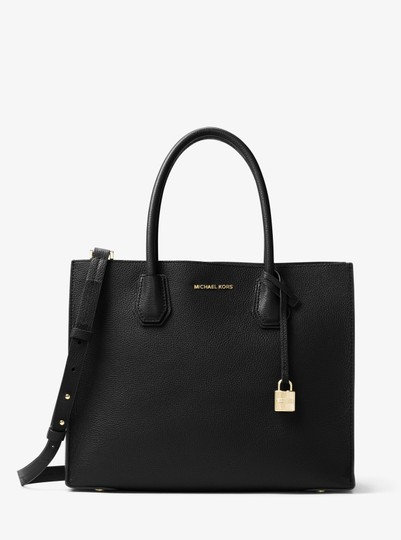 Michael Kors Leather 30f6gm9t3l Tote in Black