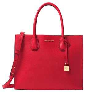 Michael Kors Leather 30f6gm9t3l Tote in Bright Red