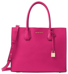 Michael Kors Leather 30f6gm9t3l Tote in Ultra Pink
