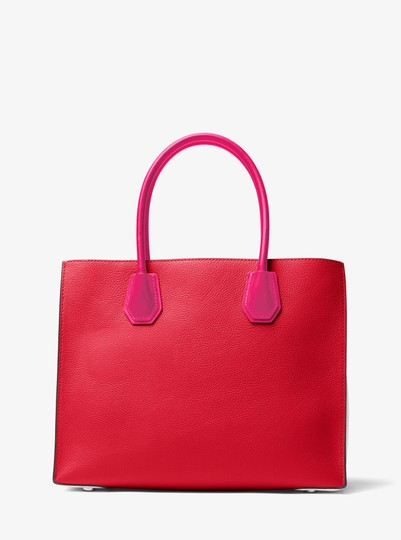 Michael Kors Leather 30s7gm9t3l Tote in Bright Red