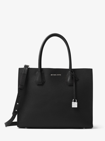 Michael Kors Leather 30f6sm9t3l Tote in Black