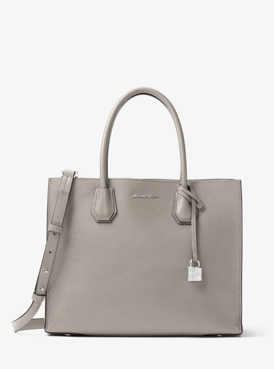 Michael Kors Leather 30f6sm9t3l Tote in Pearl Grey