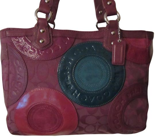 Preload https://item4.tradesy.com/images/coach-east-west-f15466-multicolor-maroon-canvas-and-genuine-leather-tote-23973198-0-1.jpg?width=440&height=440