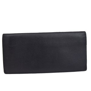 Burberry BURBERRY Black Label Long Bifold Wallet Purse Leather Black