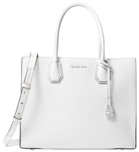 Michael Kors Leather 30f6sm9t3l Tote in Optic White