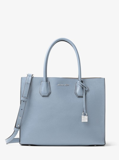 Michael Kors Leather 30f6sm9t3l Tote in Pale Blue