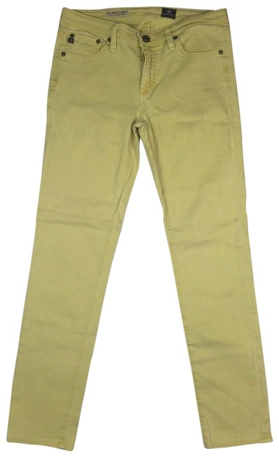 Preload https://item1.tradesy.com/images/ag-adriano-goldschmied-mustard-the-stevie-ankle-slim-yellow-straight-leg-jeans-size-27-4-s-23973215-0-1.jpg?width=400&height=650
