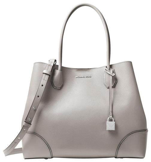 Michael Kors Leather 30t8sz5t7t Satchel in Pearl Grey