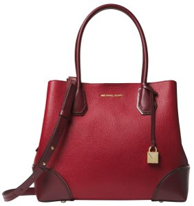 Michael Kors Leather 30f8gz5t6a Satchel in Maroon