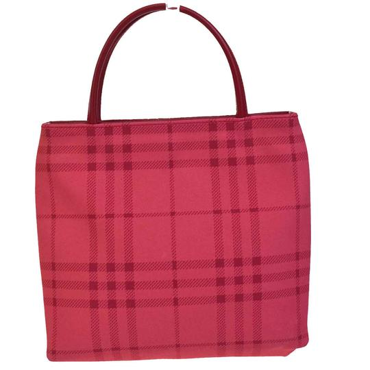 Burberry Tote in Pink Red