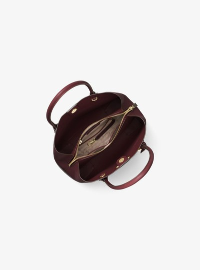 Michael Kors Leather 30h7gz5t6a Satchel in Oxblood