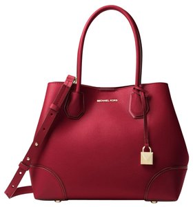 Michael Kors Leather 30h7gz5t6a Satchel in Maroon