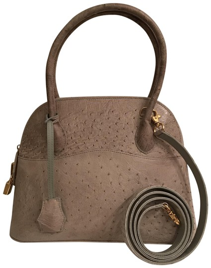Preload https://item5.tradesy.com/images/embossed-dome-gray-ostrich-leather-satchel-23973264-0-1.jpg?width=440&height=440