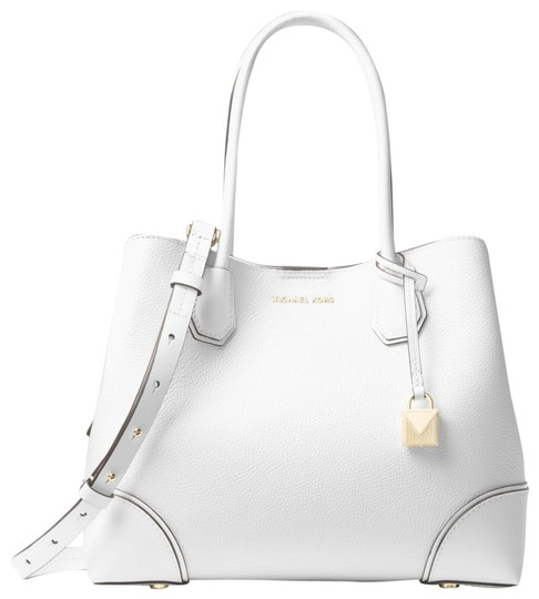 Preload https://img-static.tradesy.com/item/23973278/michael-kors-mercer-gallery-30h7gz5t6a-optic-white-leather-satchel-0-1-540-540.jpg