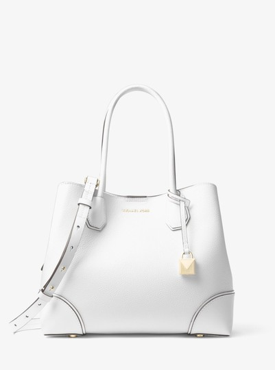 Michael Kors Leather 30h7gz5t6a Satchel in Optic White