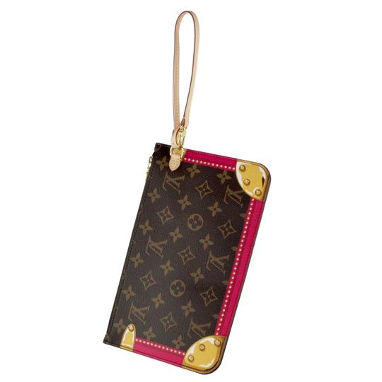 Preload https://item3.tradesy.com/images/louis-vuitton-neverfull-pochette-limited-edition-summer-trunks-mm-6512-brown-canvas-wristlet-23973287-0-2.jpg?width=440&height=440