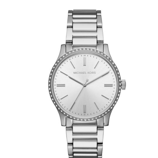 Preload https://item1.tradesy.com/images/michael-michael-kors-silver-bailey-stainless-steel-38mm-mk3807-watch-23973295-0-0.jpg?width=440&height=440