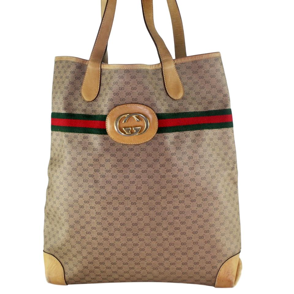 51a75bd7519a Gucci Monogram Laptop Bags Weekend Travel Bags Tote in Brown Image 0 ...