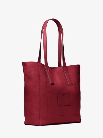 Michael Kors Leather 30t8tx5t3l Tote in Maroon