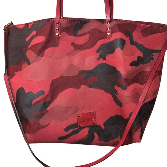 Preload https://item2.tradesy.com/images/valentino-reversible-camo-red-leather-and-canvas-tote-23973376-0-1.jpg?width=440&height=440